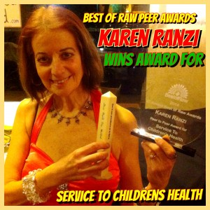 Best of Raw Awards Karen Ranzi Service to Childrens Health