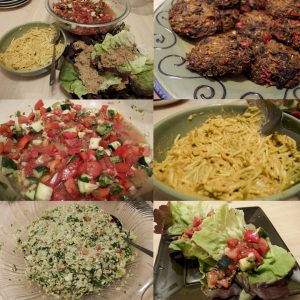 Entrees from raw food coaching class summer 2016 by Gwen