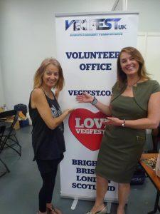 London Vegfest Karin Ridgers and Karen Ranzi