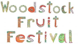 WOODSTOCK FRUIT FESTIVAL SIGN