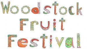 WOODSTOCK FRUIT FESTIVAL SIGN