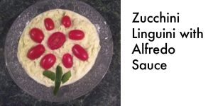 Zucchini Linguini with Alfredo Sauce