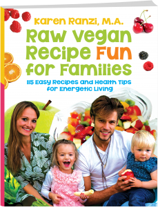 Cover-3d of raw vegan recipe fun for families for website