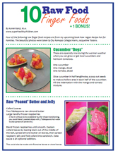 Cover of 10 Raw Food Finger Foods by Karen Ranzi