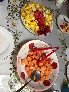 Love Raw Food Retreat fruit bowls at Margarita's