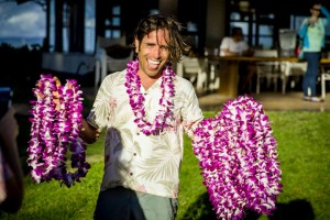 Hawaii Fruit Festival Michael with lei