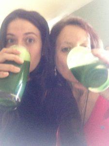 gabriela and karen ca green juice #2 2013.